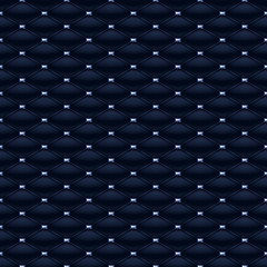 FototapetaQuilted seamless pattern with blue gemstones.