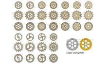 歯車のイラスト 11種類