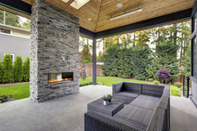 New Modern Home Features A Bac...