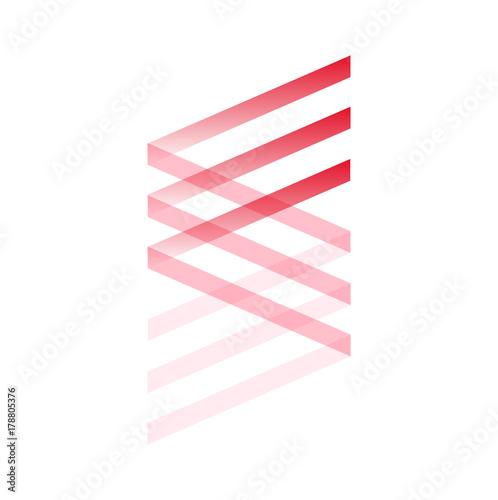 Foto op Plexiglas Spiraal Spirale rossa