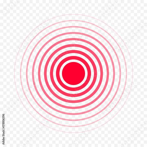 Pain circle red icon for medical painkiller drug medicine Tapéta, Fotótapéta