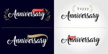 Happy Anniversary Lettering Te...