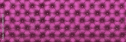horizontal elegant purple leather texture with buttons for pattern and background - 178807933