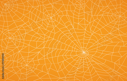Spoed Fotobehang Halloween Spider Web, Halloween pattern
