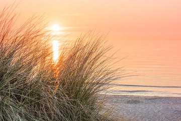 Obraz na SzkleSonnenuntergang an der Ostsee