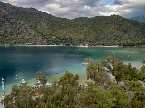 Photo Stands Caribbean Aerial View of Dead Sea in Fethiye