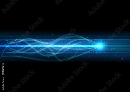 Fotomural  vector background abstract technology communication data Science