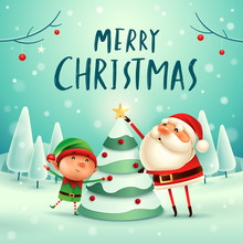 Merry Christmas! Santa Claus A...