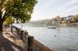Basel, Stadt, Altstadt, Kleinbasel, Grossbasel, Rhein, Rheinufer, Uferweg, Wettsteinbrücke, Brücke, Fähre, Rheinfähre, Herbst, Schweiz