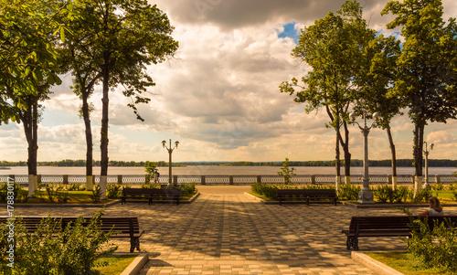 Keuken foto achterwand Kanaal River Volga embankment