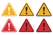 Set Of Triangle Caution Icons....
