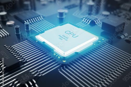Fotografía  3D rendering Circuit board