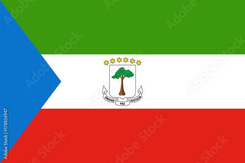 Fotografía  Official vector flag of Equatorial Guinea