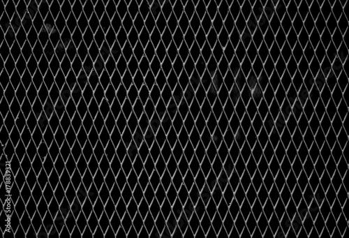 Obraz na płótnie Steel grating - monochrome