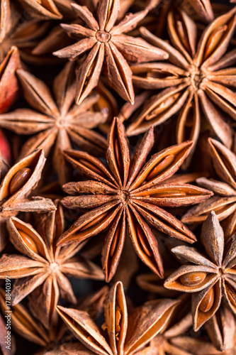 Photo anise, baden, anise stars, spices, seasonings, stars, food, market, market, frag