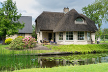Traditional Dutch House In Giethoorn, Netherlands