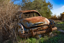 An Old Or Vintage, Rusty Car W...