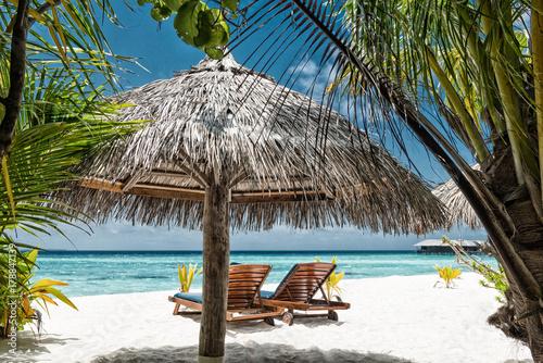 Fotodibond 3D Leżaki na plaży