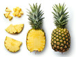 canvas print picture - Fresh pineapple isolated on white background