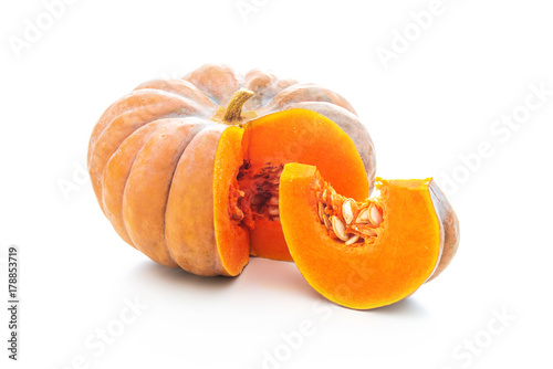 Nutmeg pumpkin isolated on white