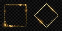 Golden Frame Squares Of Gold G...
