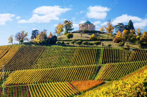 Fototapety, obrazy: Stuttgart Germany scenic view of Rotenberg mausoleum and vineyards