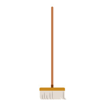 Broom With Wooden Stick In Col...