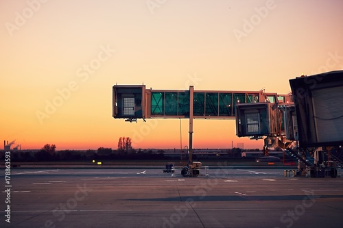 Poster Aeroport Airport at the colorful sunset