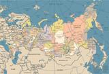 Russia Map - Vintage Vector Illustration - 178868311