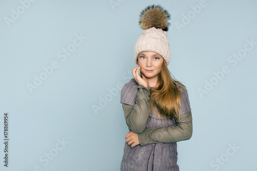 07f5775882c5 Cute little girl dressed in winter clothes