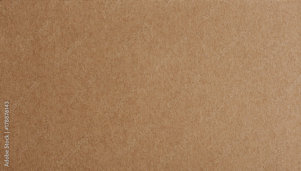 Fototapeta Flat brown paper background closeup