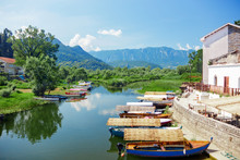 Lake Skadar National Park. Boa...