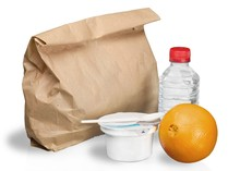 Nutritious Lunch In A Brown Bag - Isolated
