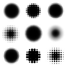Abstract Halftone Backgrounds....