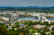 City Skyline View over Portland Oregon United States of America