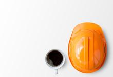 Orange Safety Engineer Helmet ...