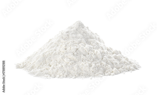Obraz na plátně  Heap of flour on white background