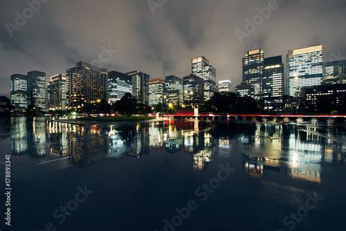 Fotografering  Rain, Cityscape, Tokyo