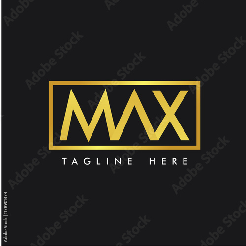 Photo  MAX Logo Vector Template Design