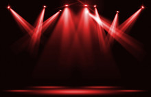 Stage Lights. Red Spotlight St...