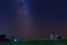 Pha Hua Singhs At Doi Samer Daw, Night Photography Of Milky Way In Sri Nan National Park, Thailand