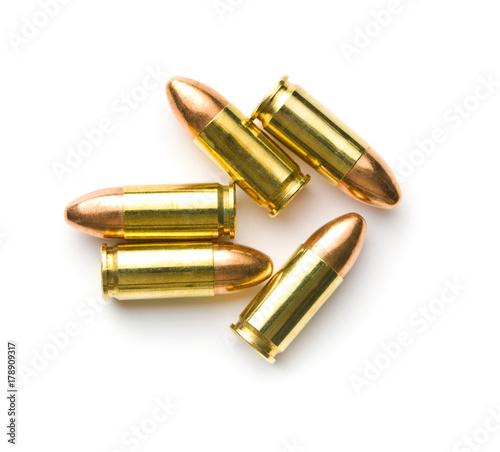 Fotografia 9mm pistol bullets.