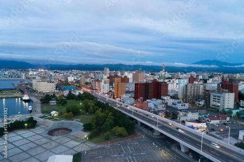 Photo アスパム展望台から見る青森市内の風景