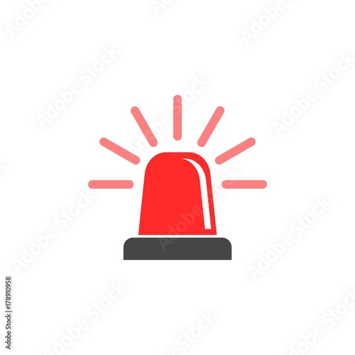 Stampa su Tela Siren icon for web and mobile, Alarm siren vector icon
