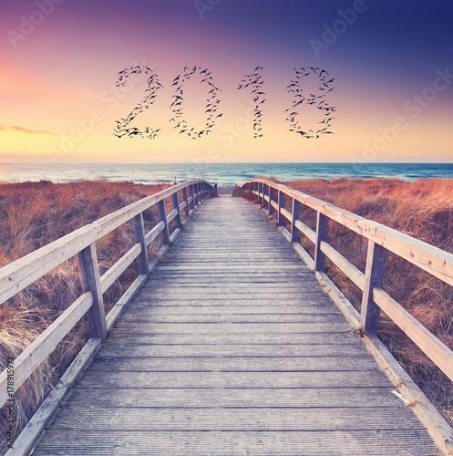 Foto op Plexiglas Panoramafoto s in das neue Jahr starten