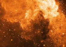 Fiery Swirl. Abstract Orange S...