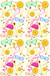 Background with colorful subjects for experiments and brain teasers