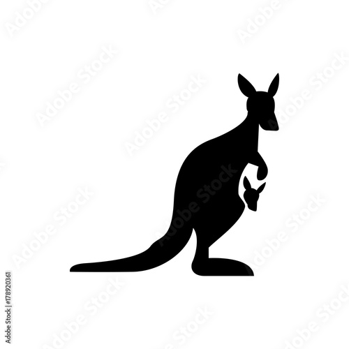 Fotografie, Obraz kangaroo icon illustration