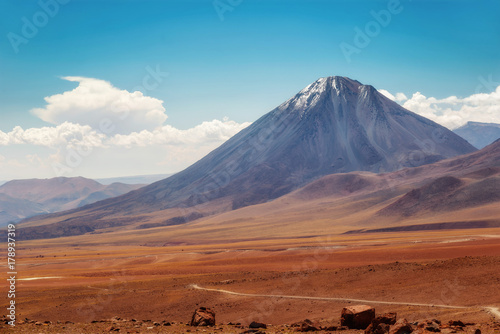 Foto auf AluDibond Dunkelbraun Chile Atacama Desert