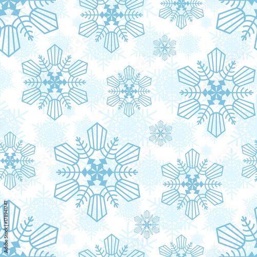 Cotton fabric Snowflake seamless pattern